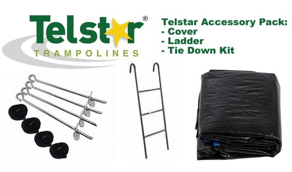 8ft Telstar Cover, Ladder and Tie Down Kit Packs
