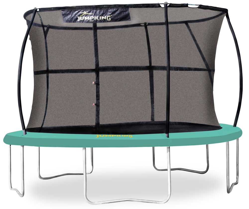 Jumpking 14ft Jumppod Deluxe Trampoline With Enclosure: Jumpking JumpPOD 12ft Trampoline